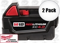 Milwaukee 48-11-1840 2pk M18 XC 4.0 Red Lithium Battery