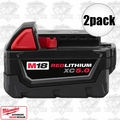 Milwaukee 48-11-1850 2pk M18 REDLITHIUM XC5.0 Extended Capacity Battery Pack