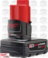 Milwaukee 48-11-2440 12 V M12 Red Lithium 4.0Ah XC Battery Factorypkg