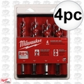 "Milwaukee 48-13-4000 4pc 6"" Ship Auger Bit Set"