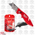 Milwaukee 48-22-1902 Fastback II Flip Utility Knife + 50 Blades + Dispenser