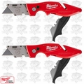 Milwaukee 48-22-1902 2pk Fastback II Flip Utility Knife w/storage