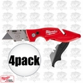 Milwaukee 48-22-1902 4pk Fastback II Flip Utility Knife w/storage