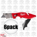 Milwaukee 48-22-1902 6pk Fastback II Flip Utility Knife w/storage