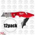 Milwaukee 48-22-1902 12pk Fastback II Flip Utility Knives w/storage