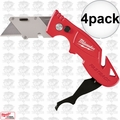 Milwaukee 48-22-1903 4pk Fastback II Flip Utility Knife w/storage