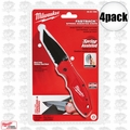 Milwaukee 48-22-1995 4pk Fastback Spring Assisted Serrated Knife