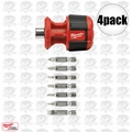 Milwaukee 48-22-2120 4pk Compact 8IN1 Multi Bit Driver