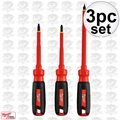 Milwaukee 48-22-2202 3 Piece Insulated 1000v Screwdriver Set