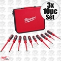 Milwaukee 48-22-2210 3x 10pc 1000V Insulated Screwdriver Set w/ EVA Foam Case