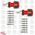 Milwaukee 48-22-2320 2pk Compact 8IN1 Ratchet Multi Bit Driver