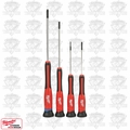 Milwaukee 48-22-2604 4 PC Precision Screwdriver Set