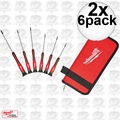 Milwaukee 48-22-2610 2x 6pk TORX Precision Screwdriver Set w/ Case