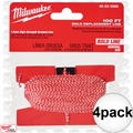Milwaukee 48-22-3989 4pk 100' Bold Replacement Chalk Line