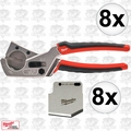 Milwaukee 48-22-4202-X8 8pk Pex and Tubing Cutter w/Replacement Blades