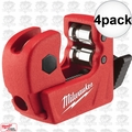 "Milwaukee 48-22-4250 4pk 1/2"" Mini Copper Tubing Cutter"