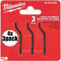 Milwaukee 48-22-4257 4x 3pk Replacement Reaming Blades