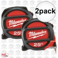 Milwaukee 48-22-5125 2pk 25' Magnetic Tape Measure