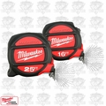 Milwaukee 48-22-5125 H 25' & 16' Magnetic Tape Measure