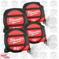 Milwaukee 48-22-5125H 4pk 2x 25' & 2x 16' Magnetic Tape Measures