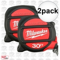 Milwaukee 48-22-5130 2pk 30' Magnetic Tape Measure