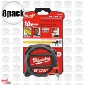Milwaukee 48-22-5225 8pk 26' (8m) Standard/Metric Magnetic Tape Measure