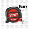Milwaukee 48-22-5233 6pk 33'~10 Meters Metric & inches Magnetic Tape Measure