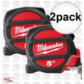 Milwaukee 48-22-5305 2pk 5 Meters Metric Magnetic Tape Measure