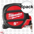 Milwaukee 48-22-5305 8pk 5 Meters Metric Magnetic Tape Measure