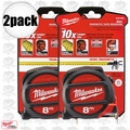 Milwaukee 48-22-5308 2pk 8 Meters Metric Magnetic Tape Measure