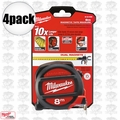 Milwaukee 48-22-5308 4pk 8 Meters Metric Magnetic Tape Measure