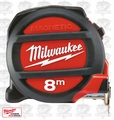 Milwaukee 48-22-5308 8 Meters Metric Magnetic Tape Measure