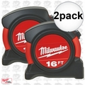 Milwaukee 48-22-5516 2pk 16' Next Gen General Contractor Tape Measure