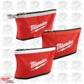 Milwaukee 48-22-8193 3pk Color Coded Zipper Pouches 3x 48-22-8180's