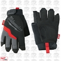 Milwaukee 48-22-8742 Large Fingerless Work Gloves