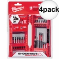 Milwaukee 48-32-4403 4x 18pc set Shockwave Impact Driver Bit Set