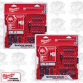 Milwaukee 48-32-4408 2pk 26Pc Shockwave Impact Drive & Fastener Set