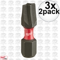 "Milwaukee 48-32-4441 3x 2pk #1 ECX Shockwave 1"" Insert Bits"