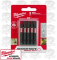 "Milwaukee 48-32-4492 5pk #2 EXC 2"" Shockwave Power Bits"