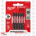 "Milwaukee 48-32-4602 5pk #2 Phillips Shockwave 2"" Power Bits"