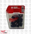 Milwaukee 48-32-4607 10pk #2 Square Shockwave Insert Bit Set (48-32-4607)