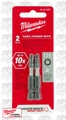 "Milwaukee 48-32-4485 2pk T25 Torx 2"" Power Bits (48-32-49850"