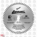 "Milwaukee 48-40-4005 Circular Saw Blade 6-1/2"" 60 Carbide Teeth"