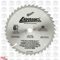 "Milwaukee 48-40-4015 Circular Saw Blade 6-1/2"" 48 Carbide Teeth"