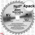 "Milwaukee 48-40-4016 4pk 6-7/8"" 36 Teeth Ferrous Metal Circular Saw Blade"
