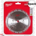 "Milwaukee 48-40-4105 8pk 5-3/8"" 16 Carbide Teeth Circular Saw Blade"