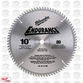 "Milwaukee 48-40-4168 10"" 80 Tooth Non-Ferrous Metal Cutting Saw Blade"