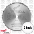 "Milwaukee 48-40-4510 2pk 14"" 90T Carbide Tipped Dry Cut Circ Saw Blade"