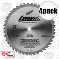"Milwaukee 48-40-4515 4pk 8"" 42 Tooth Metal Cutting Saw Blade"
