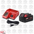 Milwaukee 48-59-1850 M18 Red Lithium XC5.0 Battery/Charger Starter Kit